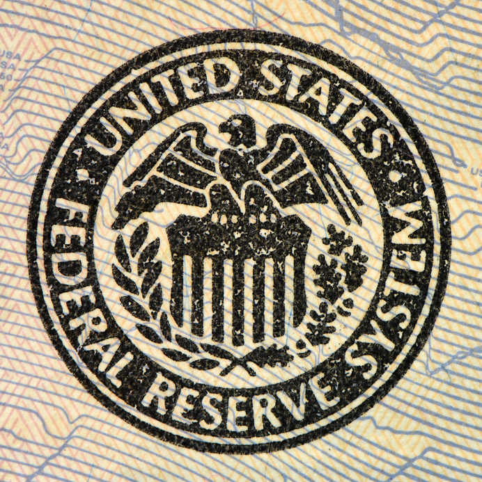 United States Federal Reserve System symbol. Macro